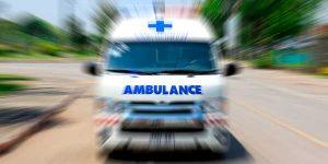 ambulance racing to hospital